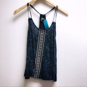 Ecote small tribal pattern w embroidery tank